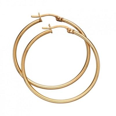 9ct Yellow Gold Hinged Hoop Earrings