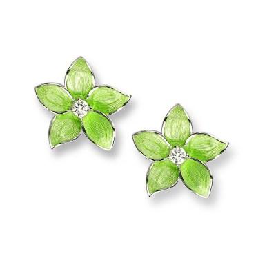 Nicole Barr Sterling Silver & Enamel Earrings