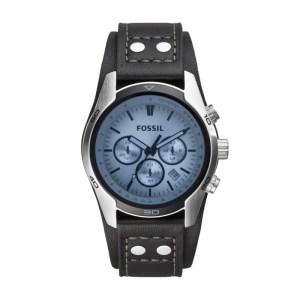 Coachman Chronograph Black Leather Watch