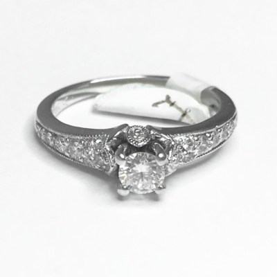 Second Hand 18ct White Gold Diamond Ring, 0.25ct