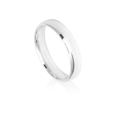 4mm Classic White Gold Wedding Ring Band