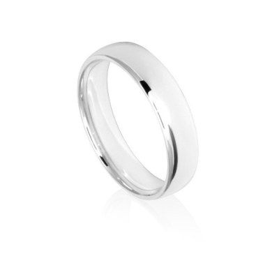 5mm Classic White Gold Wedding Ring Band