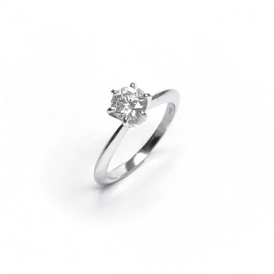 Second Hand 18ct White Gold Diamond Ring, 0.78ct