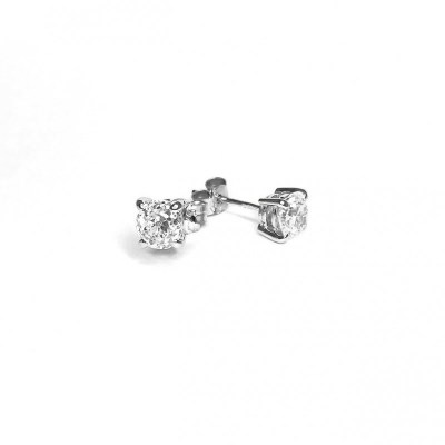 Second Hand 18ct White Gold Diamond Earrings, 1.89ct