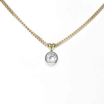 Second Hand 18ct Yellow Gold Diamond Pendant