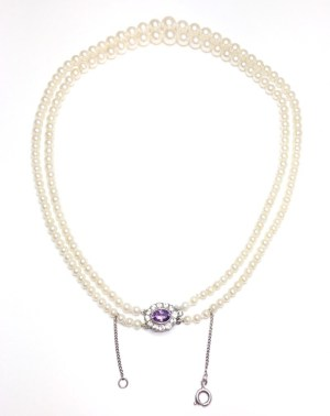 Image of second hand cultured pearl necklace
