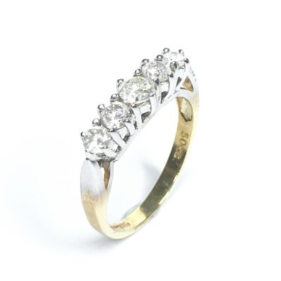 Second Hand 9ct Yellow Gold Diamond Ring, 0.50ct