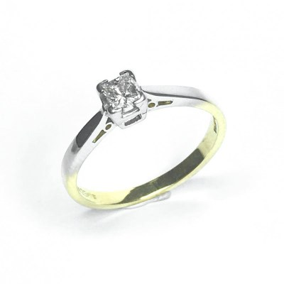 Second Hand 18ct Yellow Gold Diamond Ring, 0.25ct