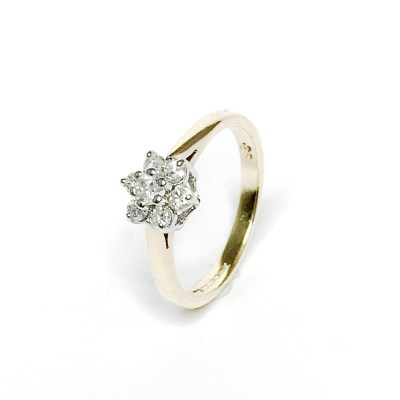 Second Hand 9ct Yellow Gold Diamond Ring