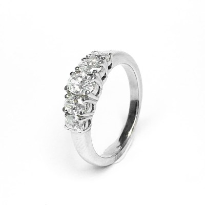 Second Hand 18ct White Gold Diamond Ring, 1.00ct