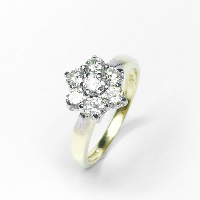 Second Hand 18ct Yellow Gold Diamond Ring, 0.75ct