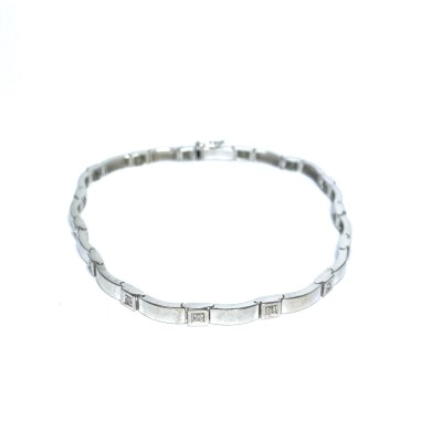 Second Hand 9ct White Gold Diamond Bracelet