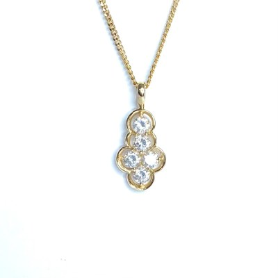 Second Hand 9ct Yellow Gold Cubic Zerconia Pendant