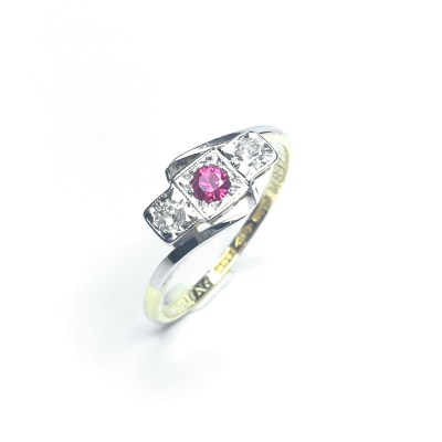 Second Hand 18ct Ruby & Diamond Ring