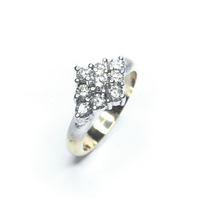 Second Hand 18ct White & Yellow Gold Diamond Ring