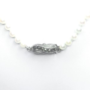Second Hand Cultured Pearl Necklace With Silver Clasp