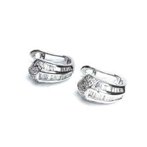 Second Hand 14ct White Gold Diamond Earrings