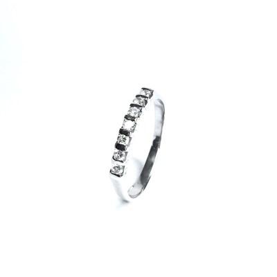 Second Hand 18ct White Gold Diamond 7 Stone Ring