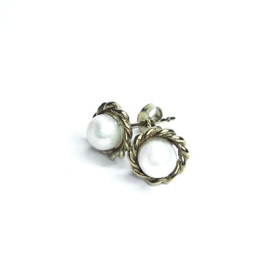 Second Hand 9ct Yellow Gold Pearl Earrings