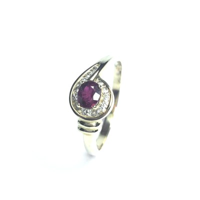 Second Hand 14ct Yellow Gold Ruby & Diamond Ring