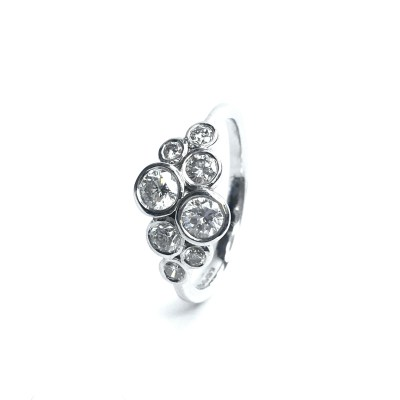 18ct White Gold Diamond 8 Stone Ring