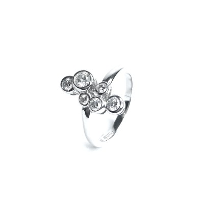 18ct White Gold Diamond 6 Stone Ring