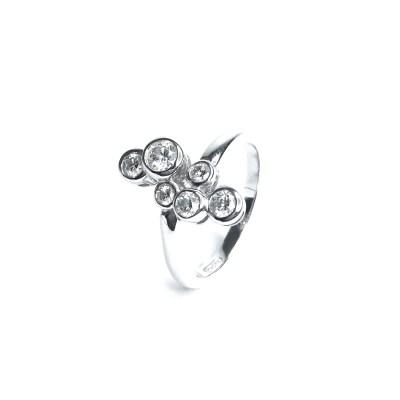 18ct White Gold Diamond 6 Stone Ring