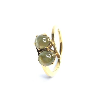 Second Hand 9ct Yellow Gold Cats Eye Ring