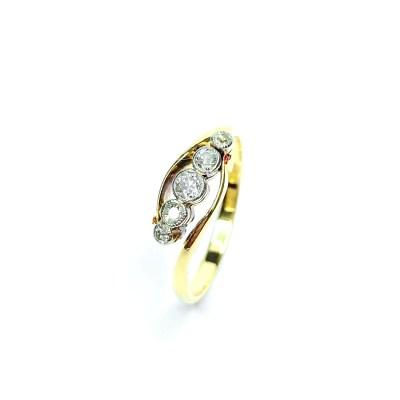 Second Hand 18ct Yellow Gold Diamond 5 Stone Ring