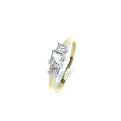 Second Hand 14ct Yellow Gold Diamond Ring
