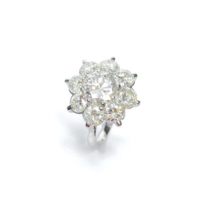 Second Hand Platinum Diamond Cluster Ring