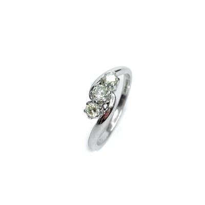 Second Hand 18ct White Gold Diamond 3 Stone Ring