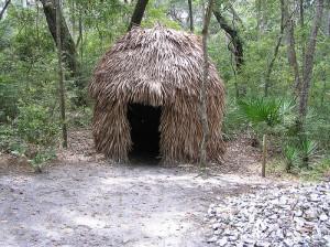 Recreation of a Timucuan hut.