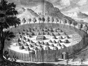 Timucuan Village. photo credit: Florida State Archives