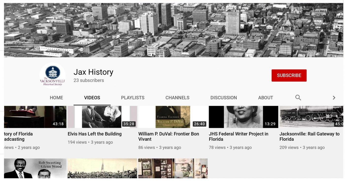 Oral history video collection on YouTube