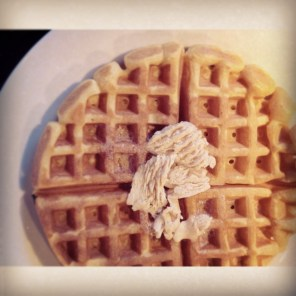 Pumpkin Waffles with Cinnamon and Sugar Butter