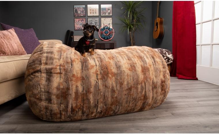 lounger 4 bean bag faux fur