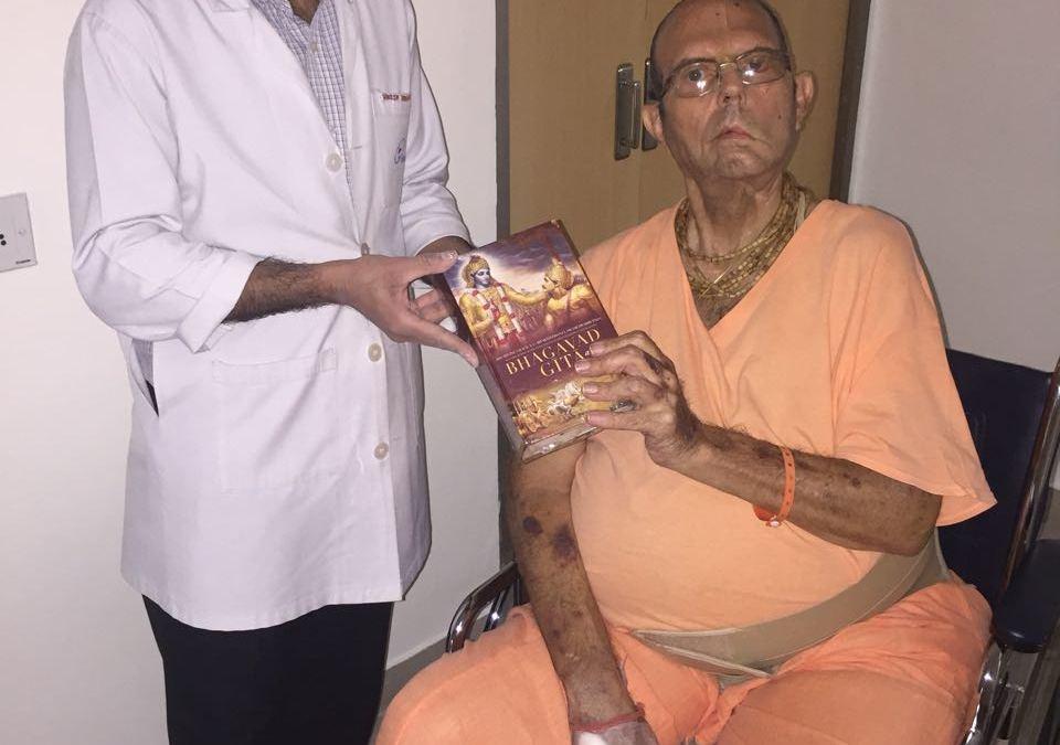 Book Distribution by His Holiness Jayapataka Swami