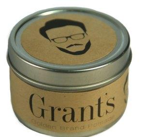 Brett Jenkins redesign of the Grant's Pomade can.