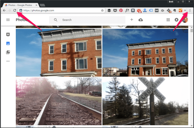 example of material design in Google Chrome
