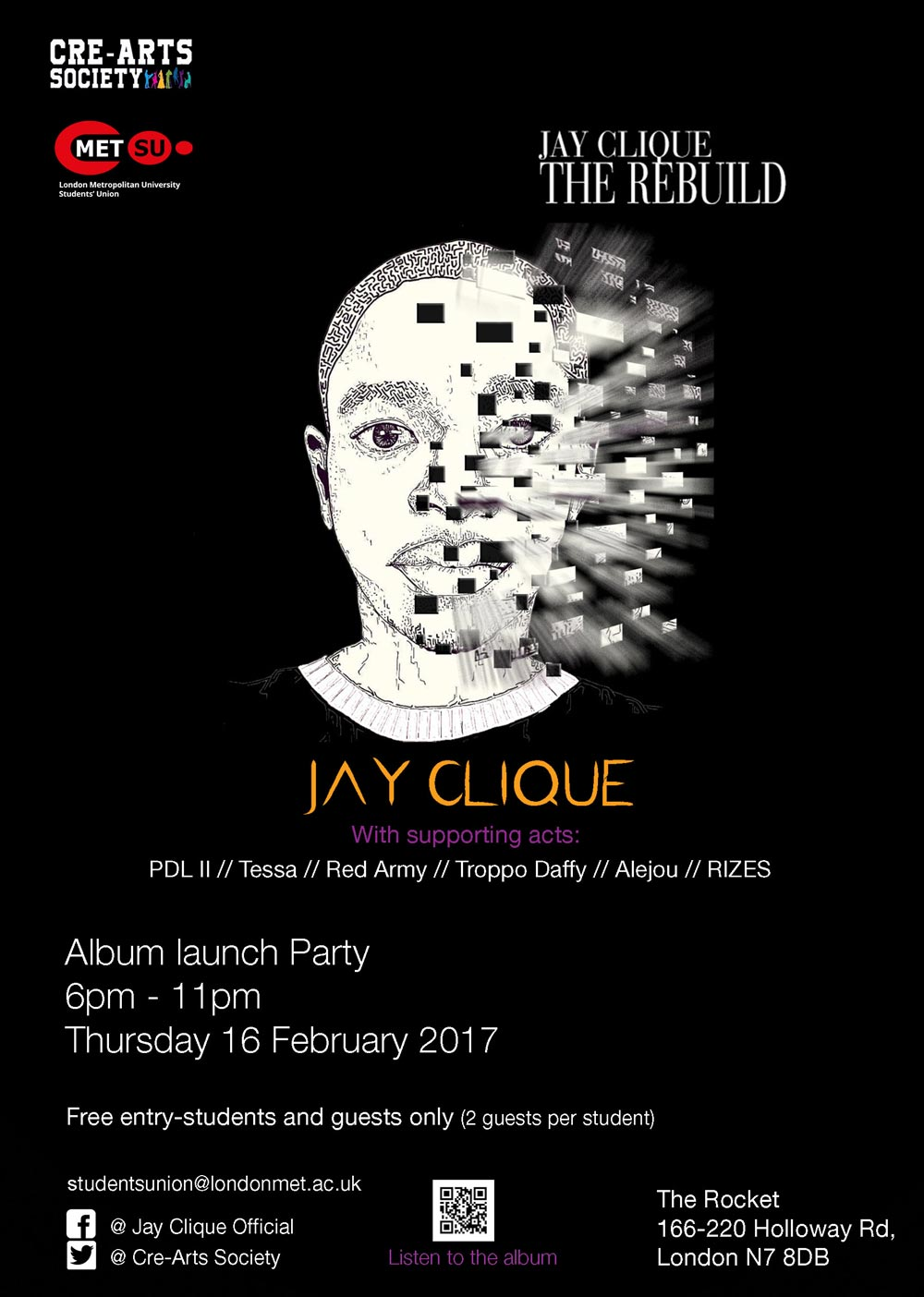 Jay Clique - The Rebulid - Launch Party at The Rocket, London - performances