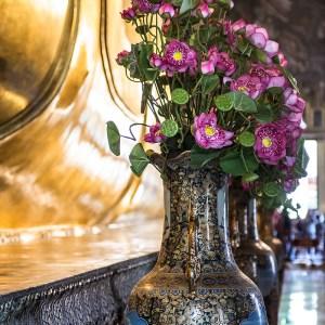 Fresh flower Wat Pho Temple, Bangkok
