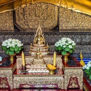 Small Buddhist statue, Wat Pho Temple, Bangkok