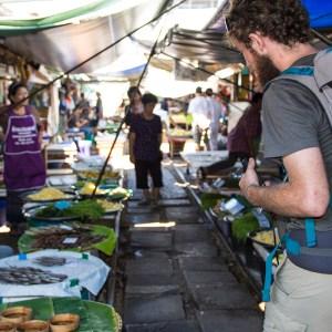 Maeklong Train Station, Umbrella Market, Thailand