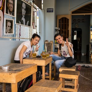 Inside an awesome coffee shop in Ho Chi Minh City in District 9!