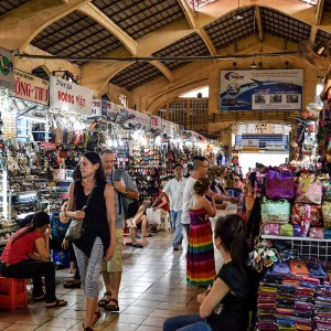 Inside the Ben Thanh Market - Ho Chi Minh City, Vietnam