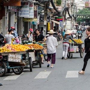 Typical street in Ho Chi Minh CIty