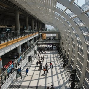A part of the Hong Kong International Airport