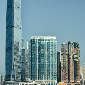 International Commerce Center photographed from the Star Ferry