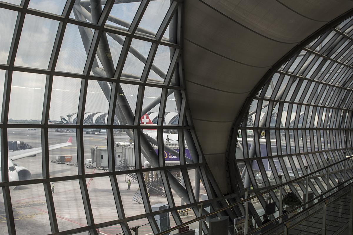 The really awesome designed Suvarnabhumi or Bangkok International Airport